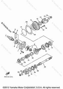 Yamaha Atv 2000 Oem Parts Diagram For Middle Drive Gear