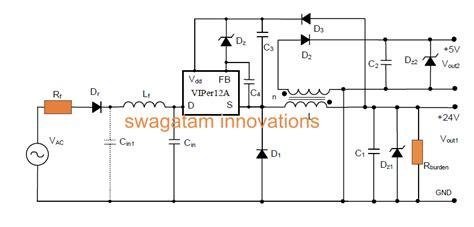 Simple Smps Buck Converter Circuit Using Vipera
