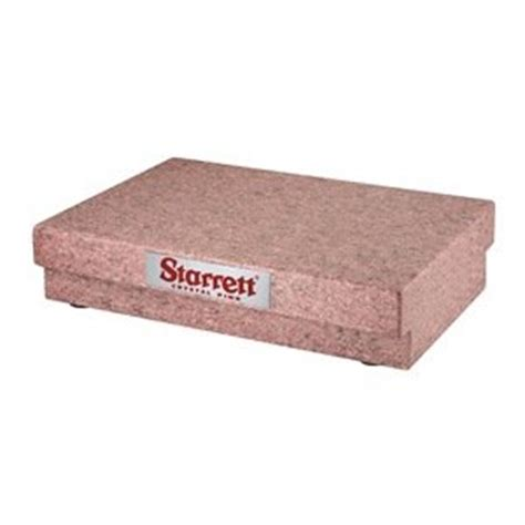 starrett 80659 pink granite surface plate grade a