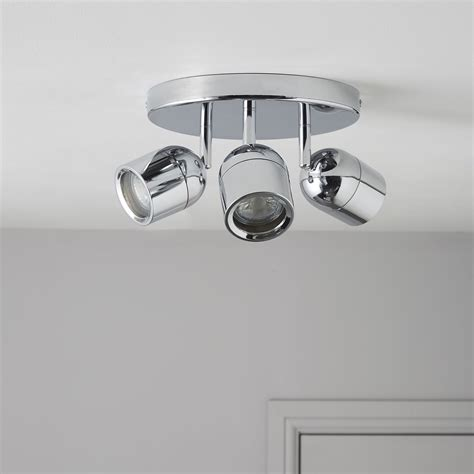 genlis chrome effect 3 l bathroom spotlight