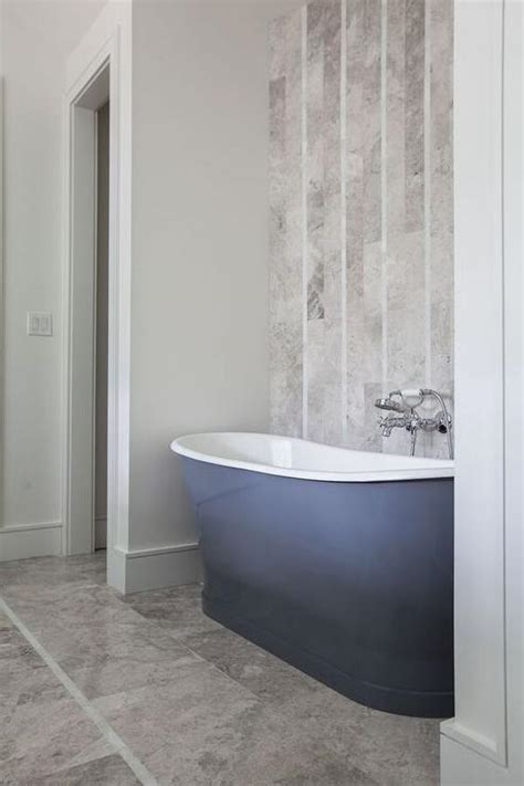 Tub Nook with Herringbone Tiled Accent Wall   Contemporary