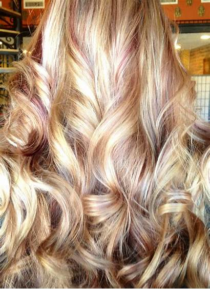 Blonde Hair Lowlights Highlights Brown Curly Bleach
