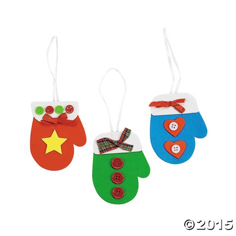 mitten christmas ornament craft kit 48 pk party supplies