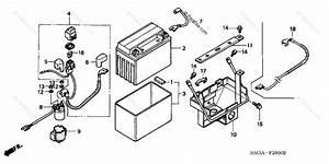 Honda Atv 2005 Oem Parts Diagram For Battery