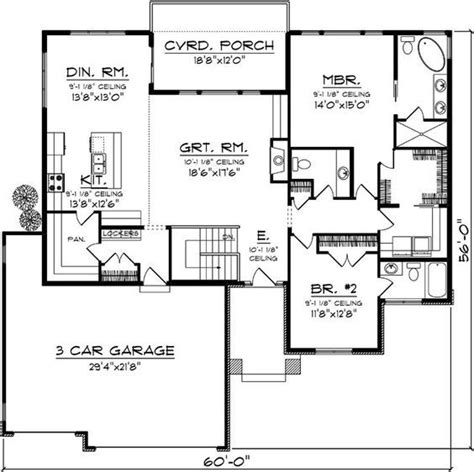 image result  floor plan bungalow covered deck  car garage  bedroom  bath pole barn
