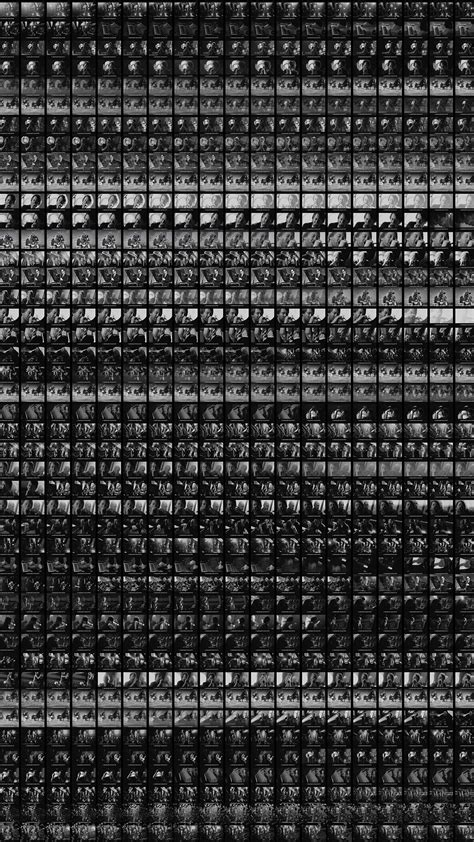 vo cinema screen square pattern dark bw wallpaper