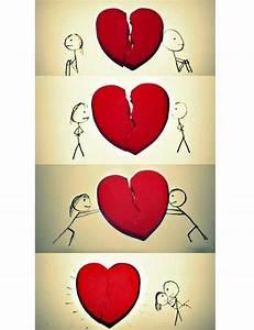 broken heart cool cute drawing love image 270386 on favim ...