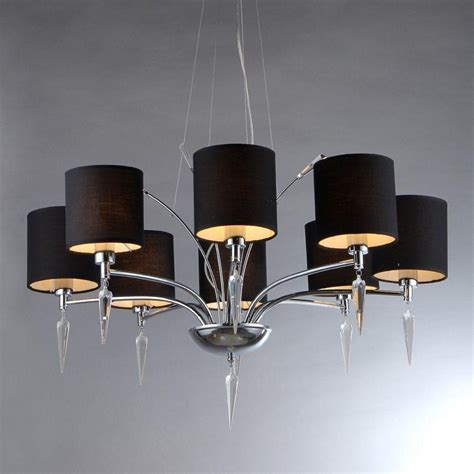 Chandelier Black Shade by Warehouse Of Branch 8 Light Chrome Chandelier With