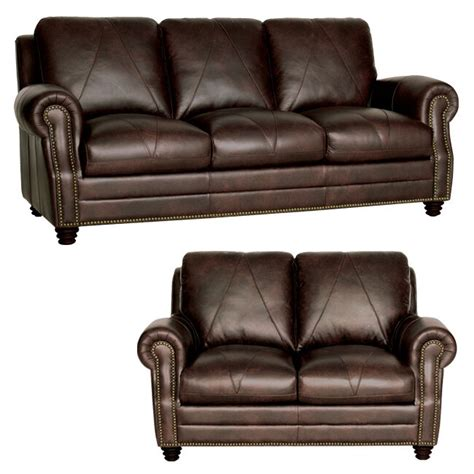 Chocolate Loveseat by New Luke Leather Furniture Quot Soloman Quot Sofa Loveseat