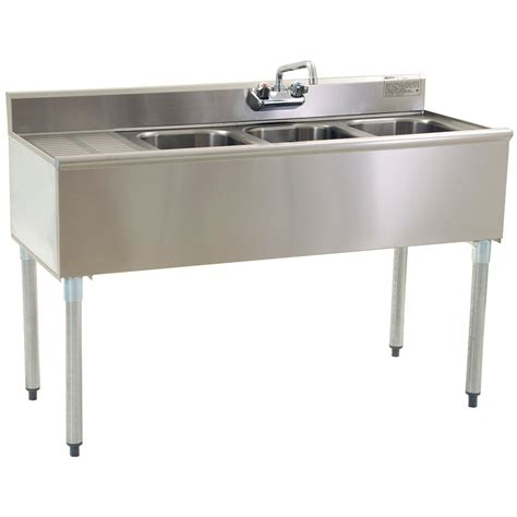 Bar With Sink by Eagle B4 3 Compartment Bar Sink With One