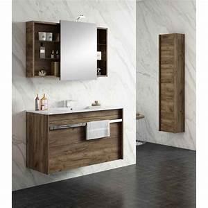 Meuble Salle De Bain Suspendu : meuble salle de bain suspendu tonga 2 tiroirs robinet and ~ Melissatoandfro.com Idées de Décoration
