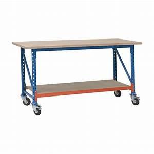 Table Sur Roulettes : tables et poste des travail mobilier atelier gravittax ~ Teatrodelosmanantiales.com Idées de Décoration