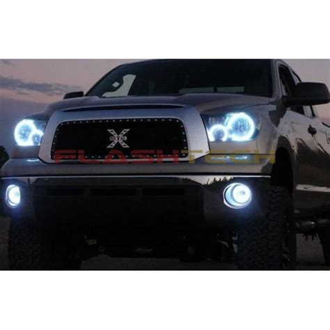 toyota tundra white led headlight halo kit