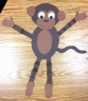 monkey craft cute cut paste craft  janas bananas tpt