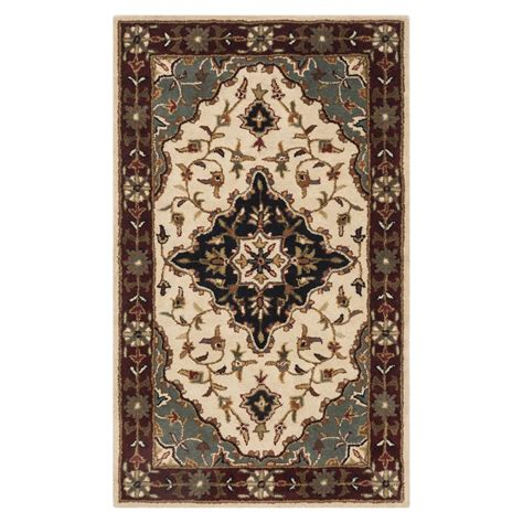 lowes area rugs safavieh hg760a heritage area rug ivory lowe s canada
