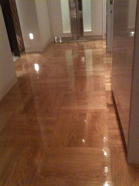 prime oak sealed high gloss varnish west  flooring