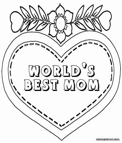 Coloring Mom Pages Ever Mother Printable Worlds