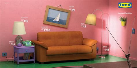 ikea turned  living rooms  simpsons stranger