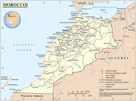 Carte Du Maroc Avec Les Principales Villes by Distance Entre Les Villes Du Maroc