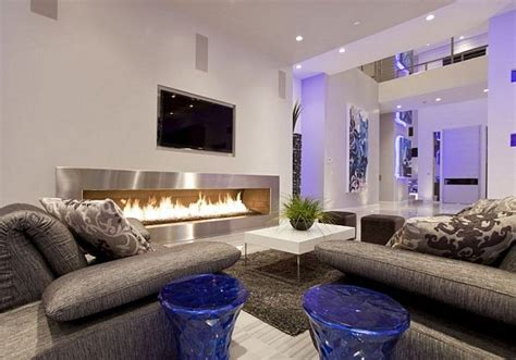 modern living room  large cozy fireplace decoist