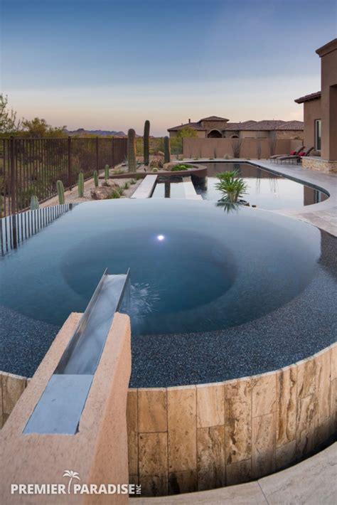 modern perimeter overflow spa luxury pool scottsdale arizona premier paradise
