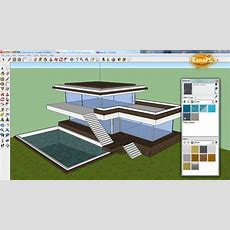 #1  Modern House Design In Free Google Sketchup 8  How