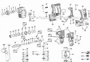 Dewalt Dch253m2 Parts List And Diagram