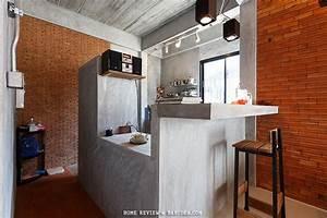 ห้องครัวสไตล์ Loft ปูนขัดมัน ไอเดียแต่งบ้าน Pinterest
