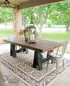Table Pour Terrasse : fabriquer une table de picnic ~ Teatrodelosmanantiales.com Idées de Décoration