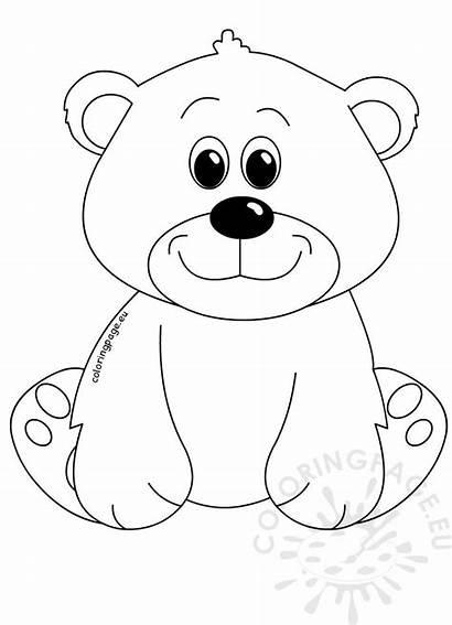 Cartoon Bear Clipart Coloring Sitting Bears Coloringpage