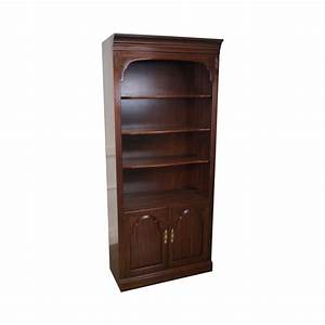 ethan allen georgian court open bookcase cabinet chairish With kitchen cabinets lowes with ethan allen wall art