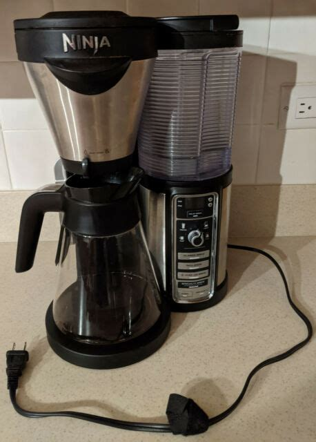 1.11 additional products to view. Ninja - Coffee Bar Brewer CF081 with Glass Carafe - Stainless Steel/Black for sale online   eBay