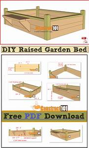 Raised Garden Bed With Bench - Pdf Download
