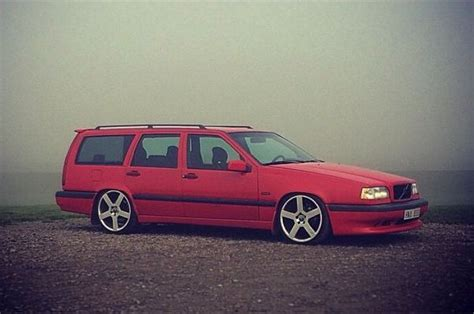 lowered red  wagon volvo  volvo volvo wagon