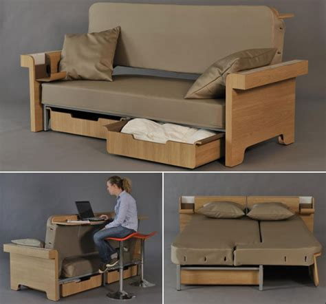 canape futon transforming sofa converts into dining table and bed for two