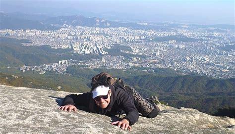 climb bukhansan  closest mountain  seoul