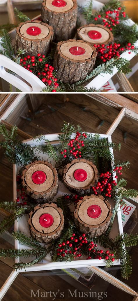 diy rustic christmas decoration ideas tutorials