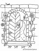 Coloring Gate Gates Cyanus Fairy Stonewall sketch template