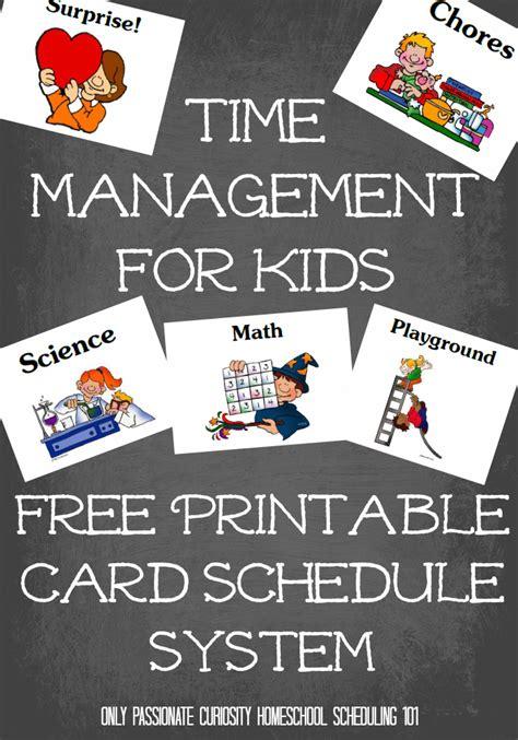 homeschool time management printables  kids