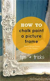 how to use chalkboard paint How To Chalk Paint A Picture Frame • Grillo Designs