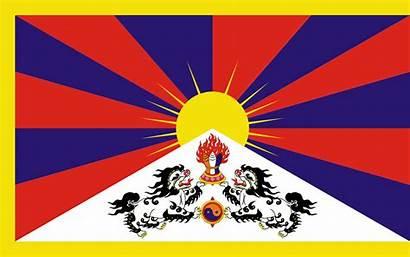 Tibet Drapeau Clin Plaisir Tibetain Espoir Enfants