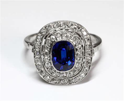 bagues anciennes d 233 co bague ancienne 171 pompadour 187 en diamants et saphir