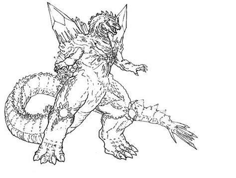 king ghidorah coloring pages coloring pages
