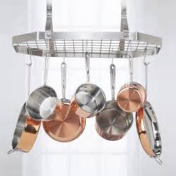 kitchen island with hanging pot rack cuisinart octagonal hanging rack pot racks at hayneedle