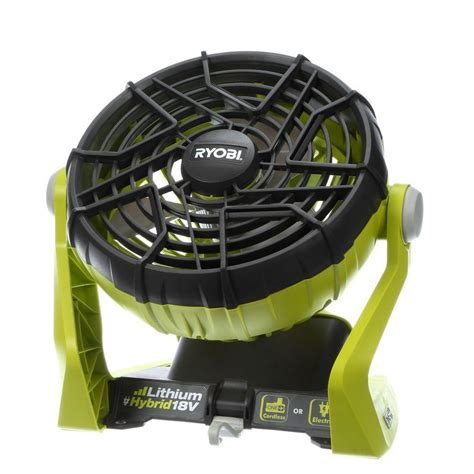 battery operated outdoor fan ryobi one 18 volt hybrid portable fan tool only p3320