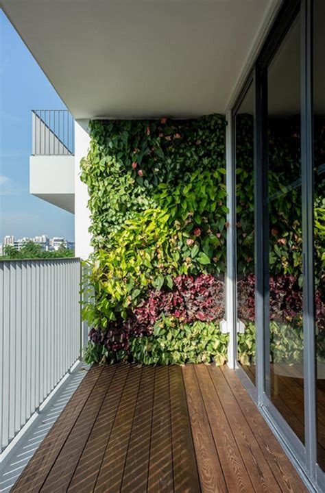 Vertikaler Garten Balkon by Vertical Garden Wall In Balcony