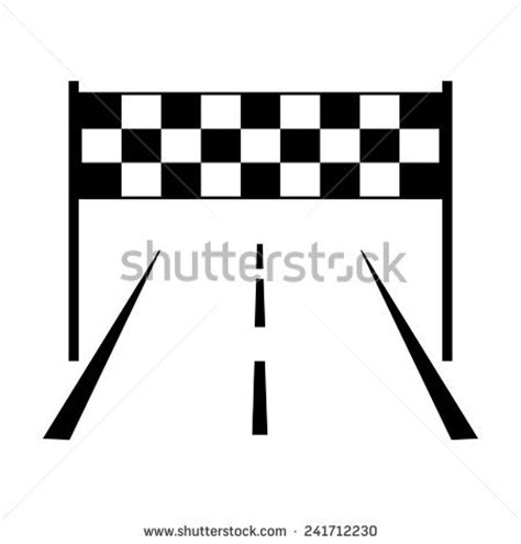 Race Track with Finish Line Clip Art