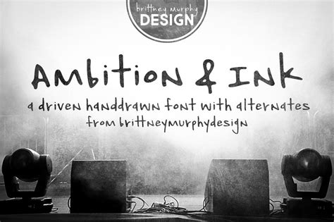Ambition & Ink By Brittney Murphy Design   TheHungryJPEG.com