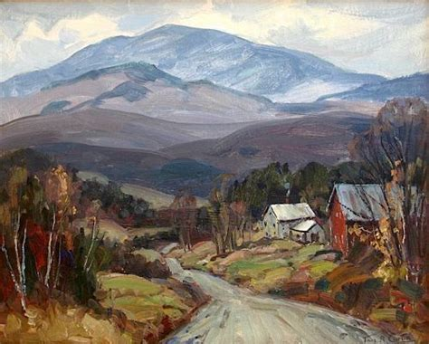 thomas  curtin landscape painting mt mansfield
