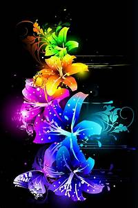 A rainbow of neon flowers | Wallpaper Backgrounds for ...